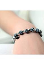 Jilzarah 400-001 Black White Petite Silverball Bracelet
