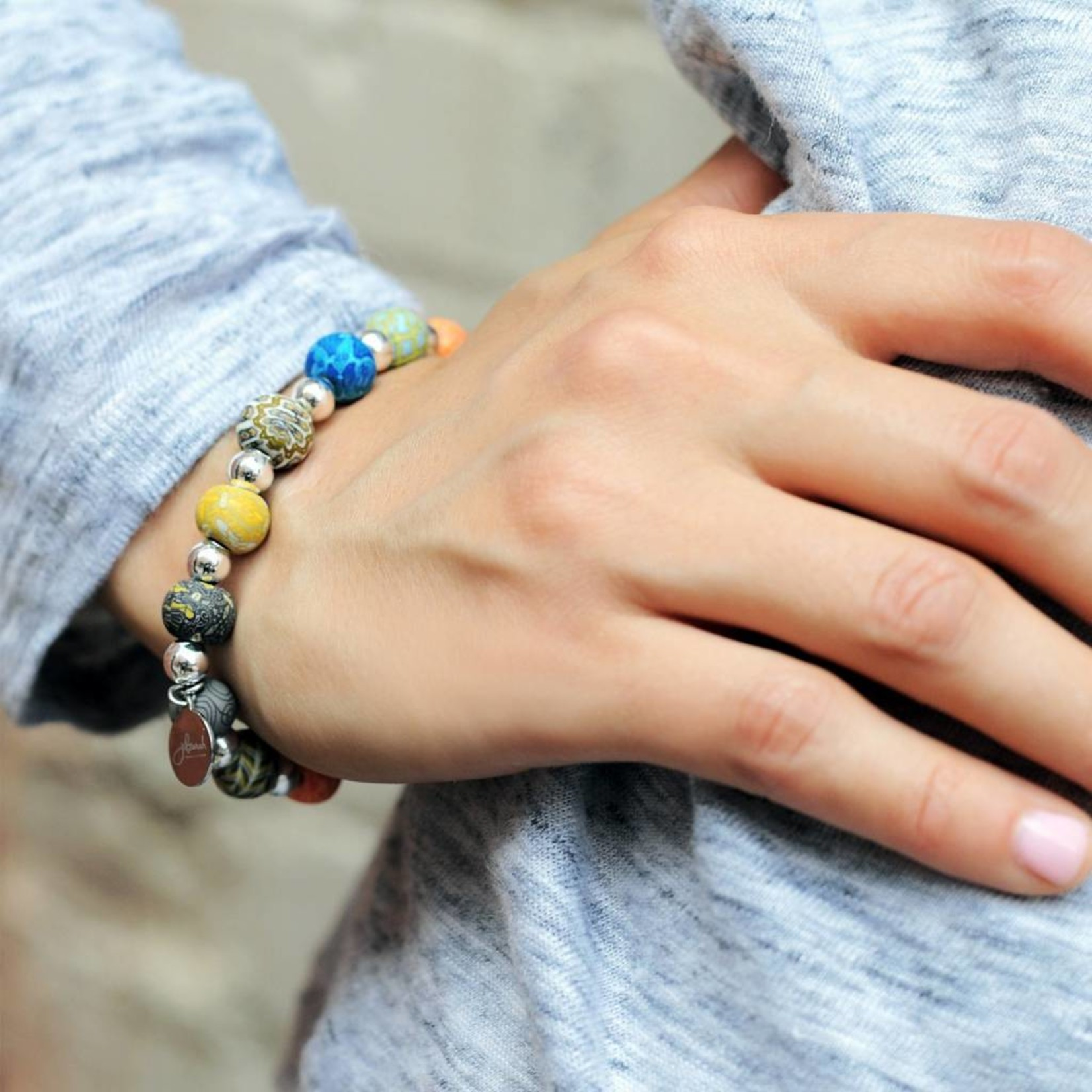 Jilzarah 400-040 Barcelona Petite Silverball Bracelet