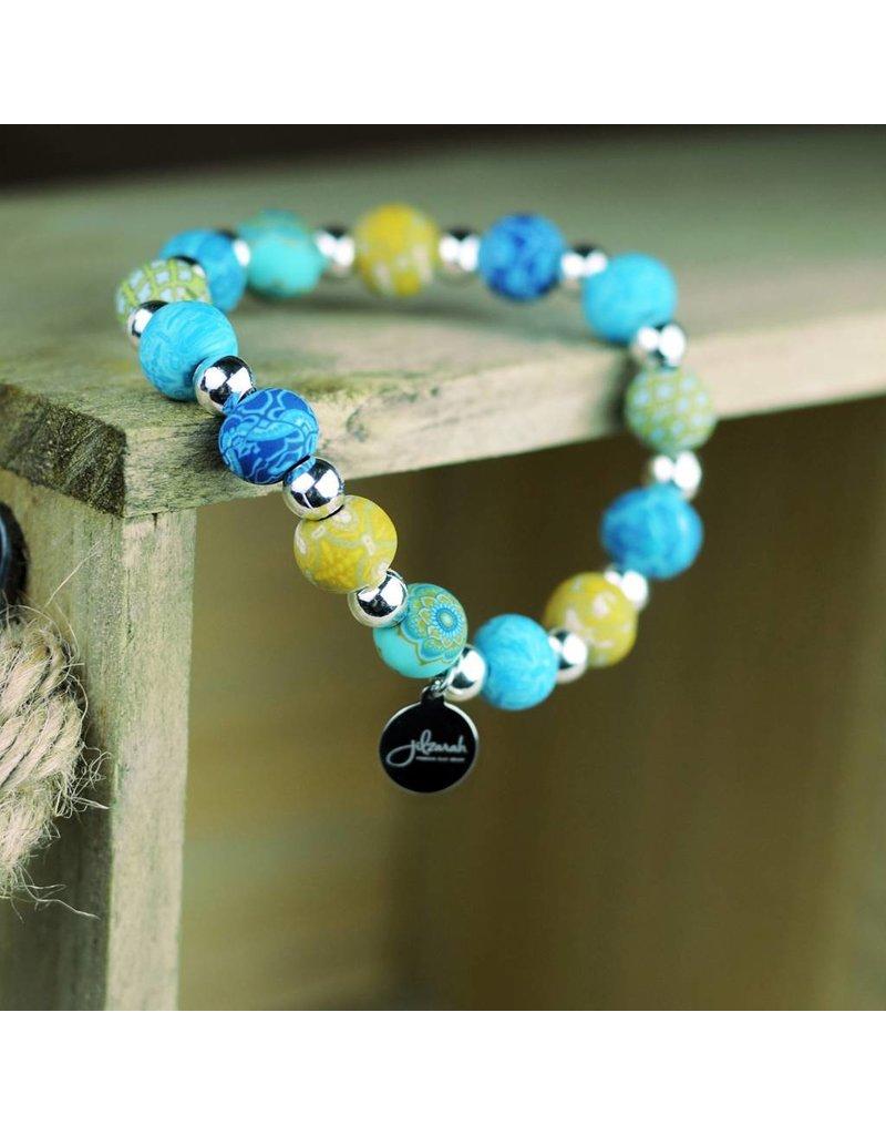400-041 Peruvian Blue Petite Silverball Bracelet