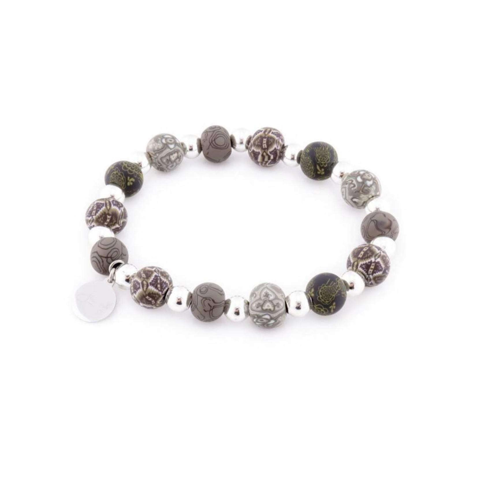Jilzarah 400-042 London Grey Petite Silverball Bracelet