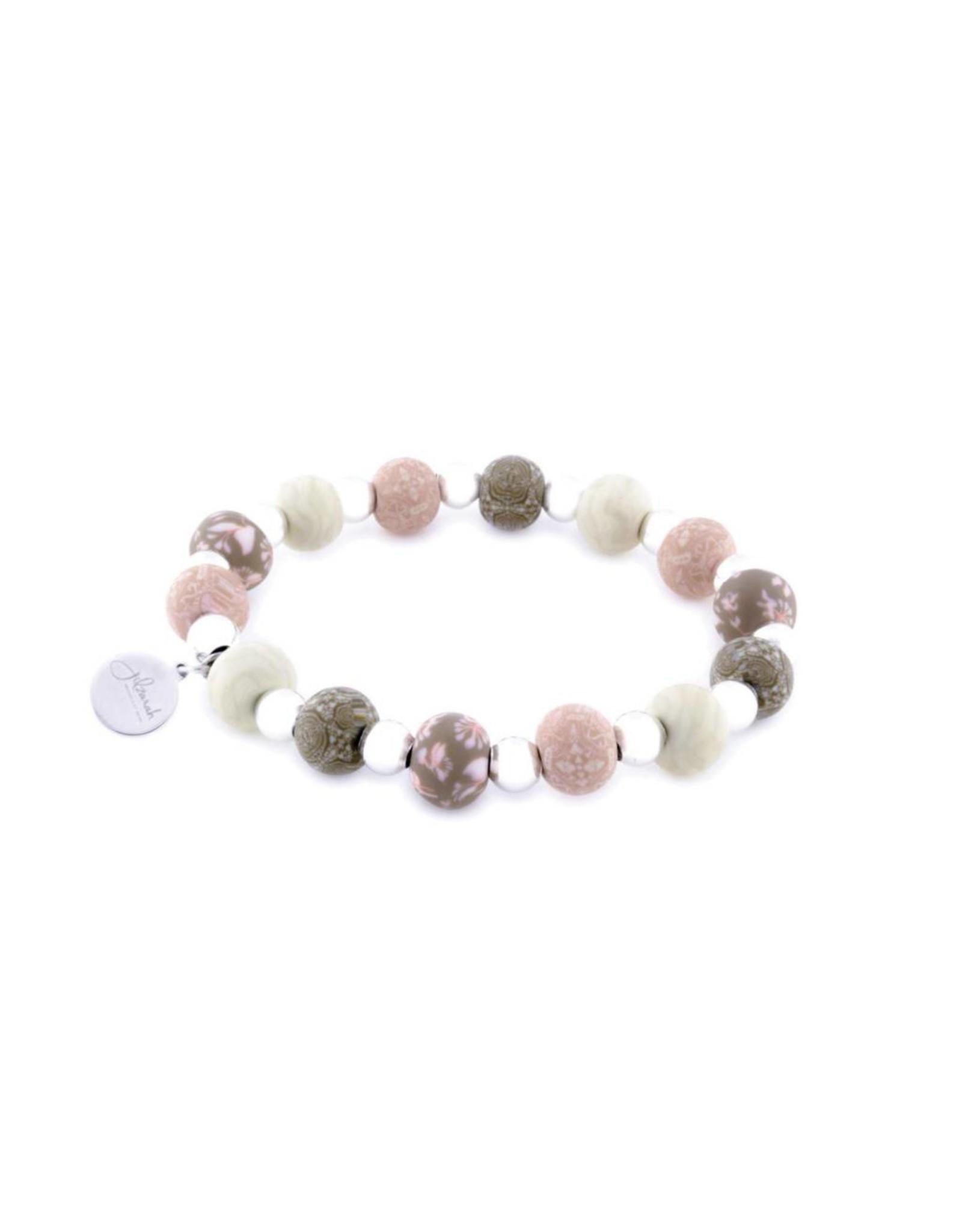 Jilzarah 400-046 Henna Rose Petite Silverball Bracelet