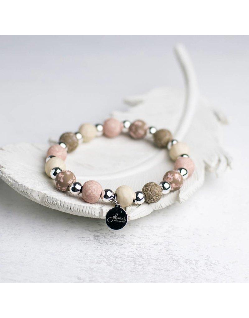 400-046 Henna Rose Petite Silverball Bracelet