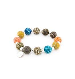 401-040 Barcelona Medium Silverball Bracelet