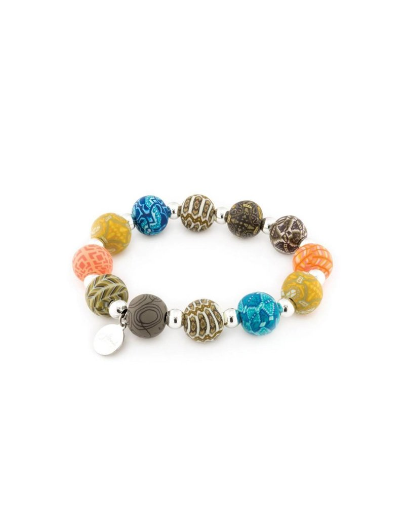 Jilzarah 401-040 Barcelona Medium Silverball Bracelet