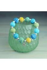 Jilzarah 401-041 Peruvian Blue Medium Silverball Bracelet