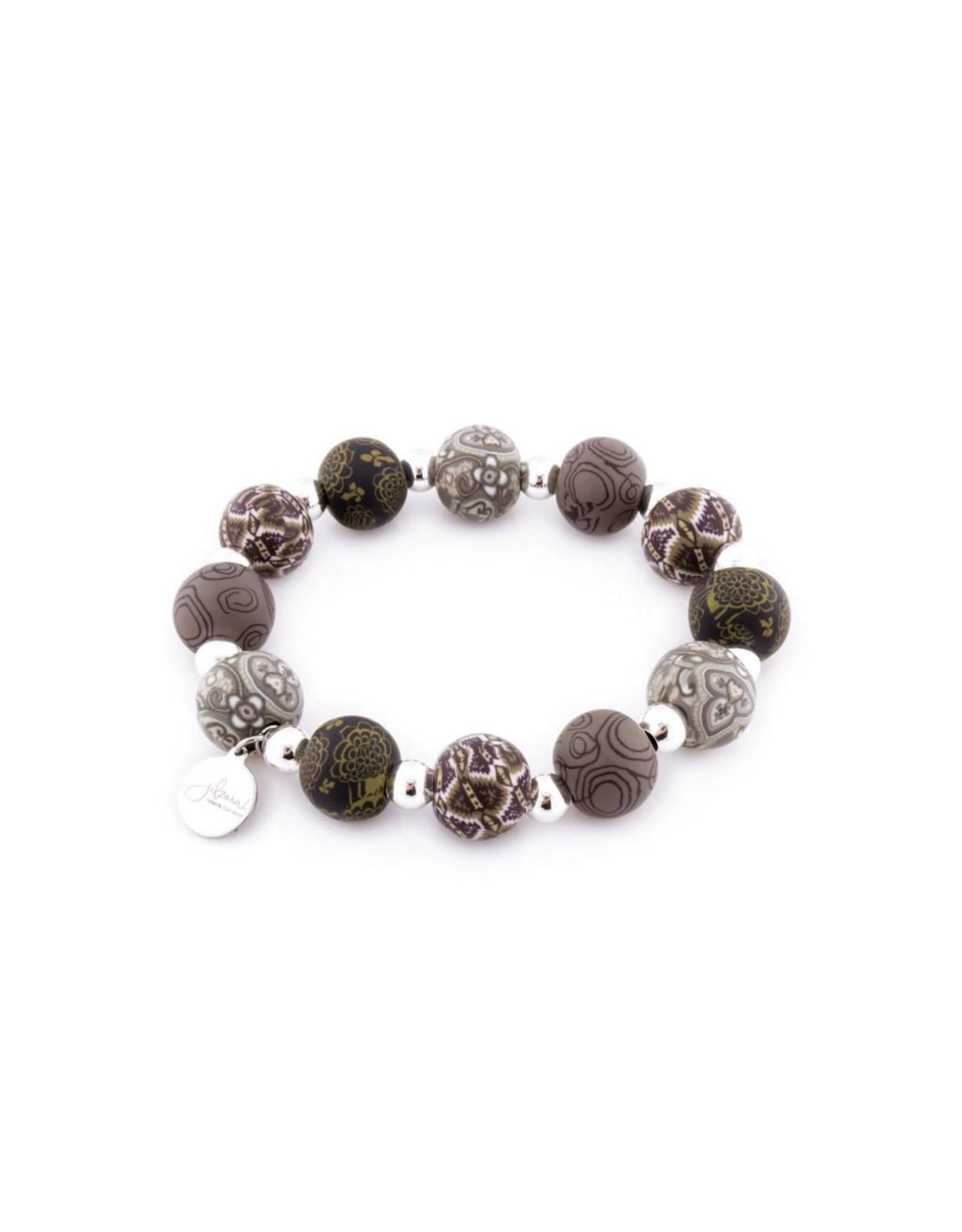 Jilzarah 401-042 London Grey Medium Silverball Bracelet
