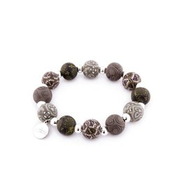 401-042 London Grey Medium Silverball Bracelet