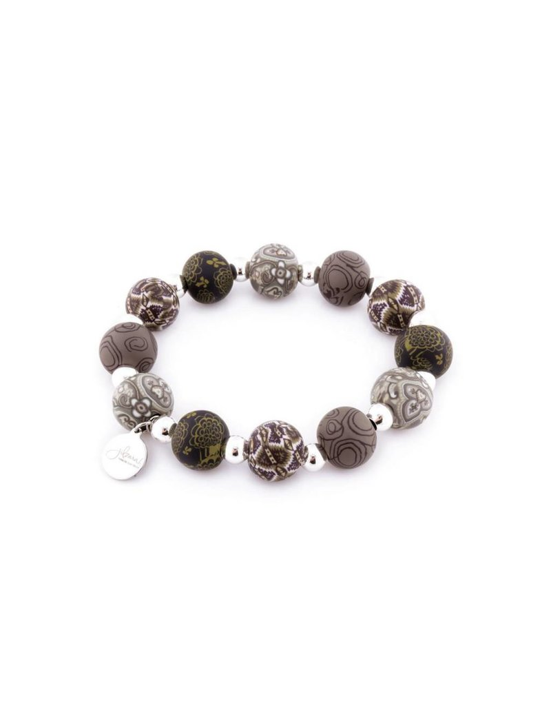 Jilzarah 401-042 London Grey Medium Silverball Bracelet