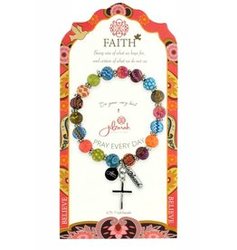 Jilzarah 495-005 Multi Specialty Faith Bracelet