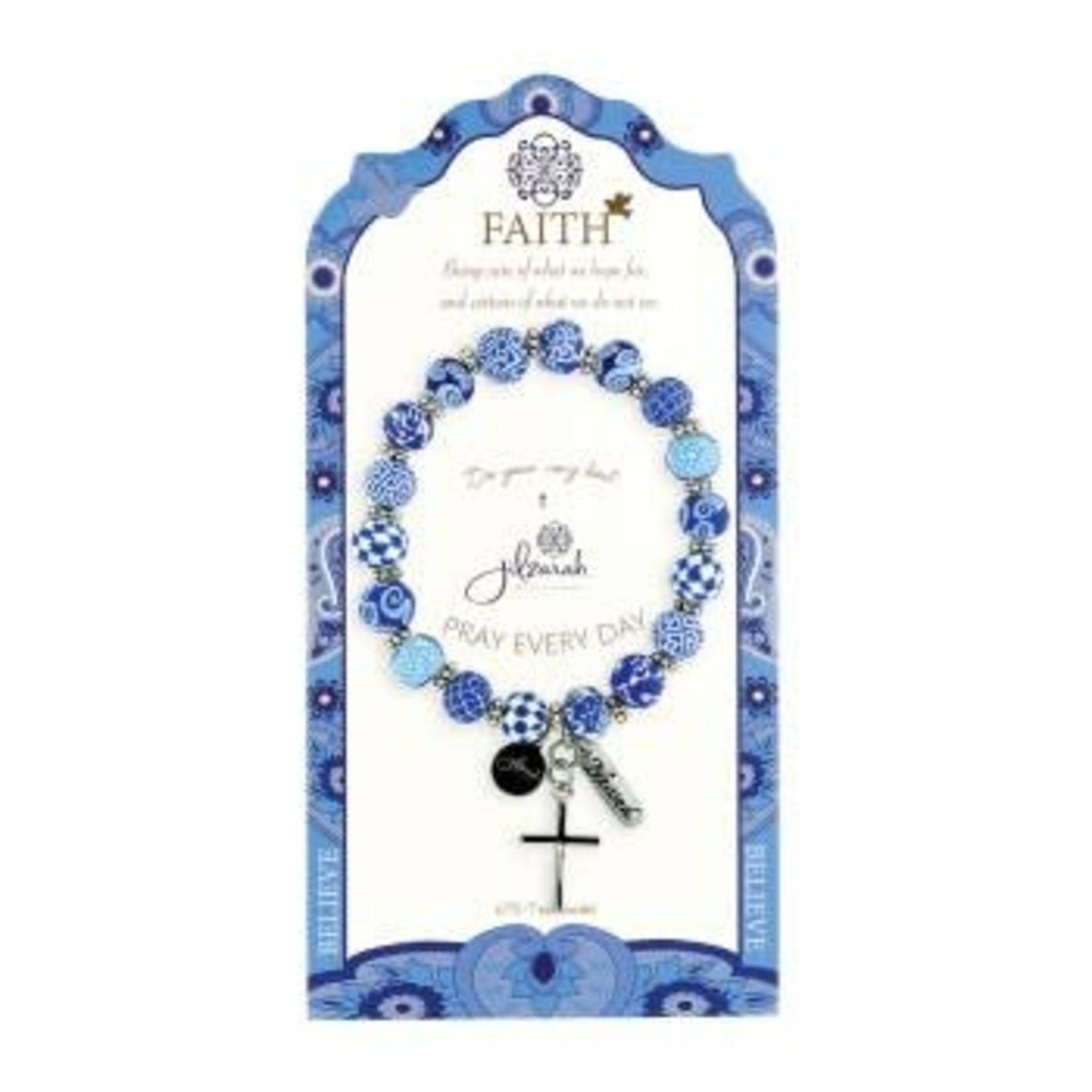 Jilzarah 495-007 Blue Specialty Faith Bracelet