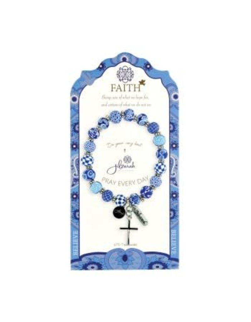 Jilzarah 495-007 Blue Specialty Faith Bracelet