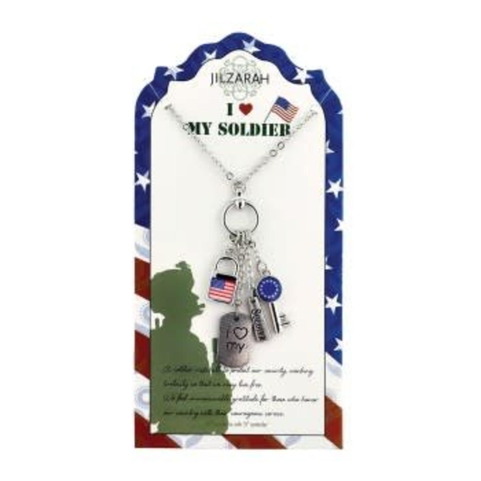 Jilzarah 901-023 My Soldier Necklace People We Love