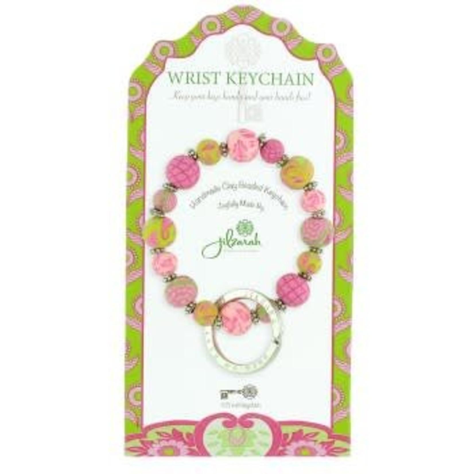 Jilzarah 805-029 Paisley Pink Mini Wrist Keychain