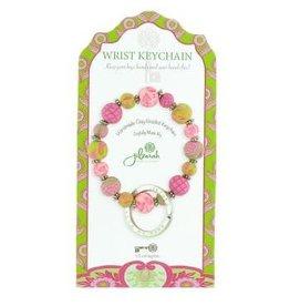 805-029 Paisley Pink Mini Wrist Keychain