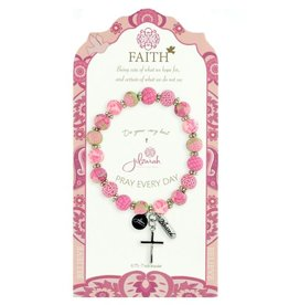 495-008 Pink Specialty Faith Bracelet