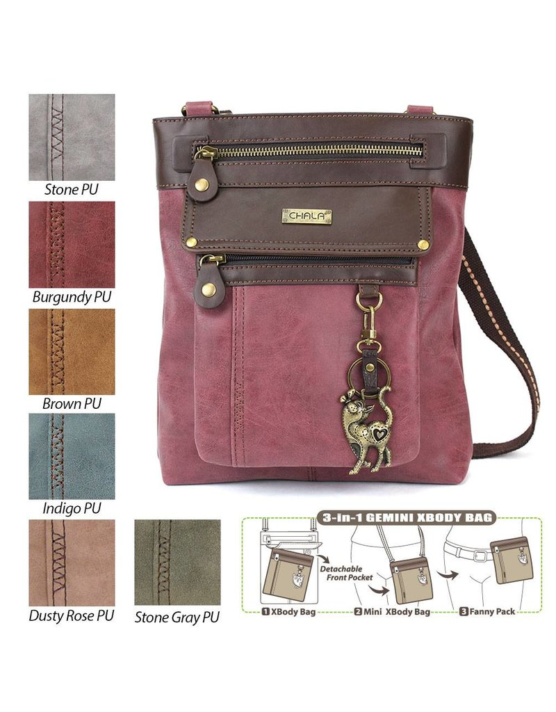 Chala Gemini Crossbody Dusty Rose Slim Cat