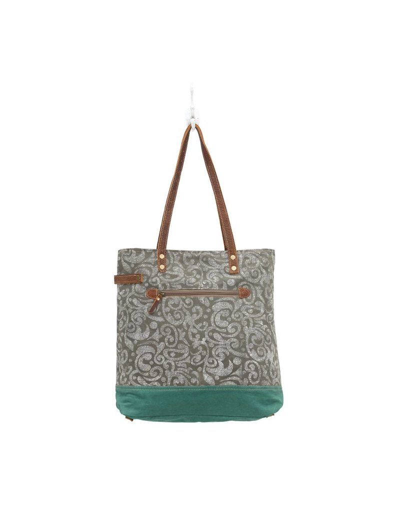 Myra Bags S-0739 Abstract Print Canvas Tote