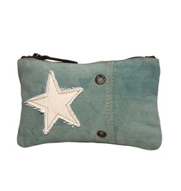 Myra Bags S-0879 Star On Turquoise Small Pouch