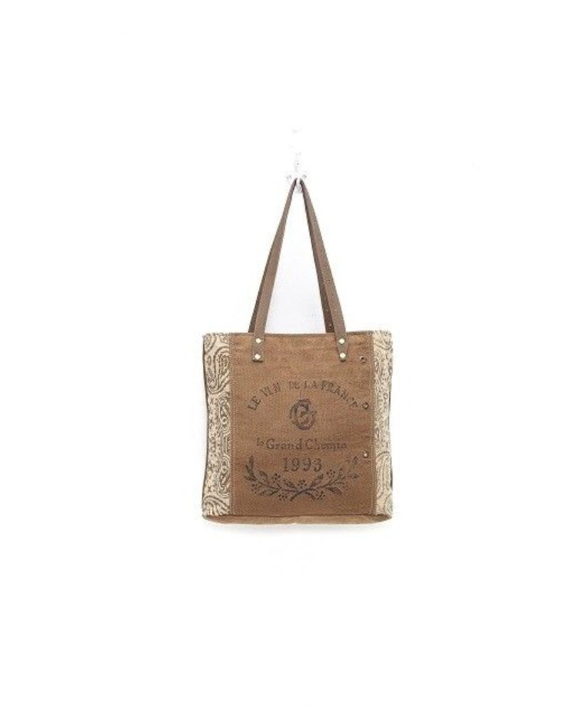 "Myra Bags S-0936 ""1993"" Canvas Tote"