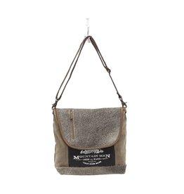Myra Bags S-0965 Hair On Flap Over Messenger Bag