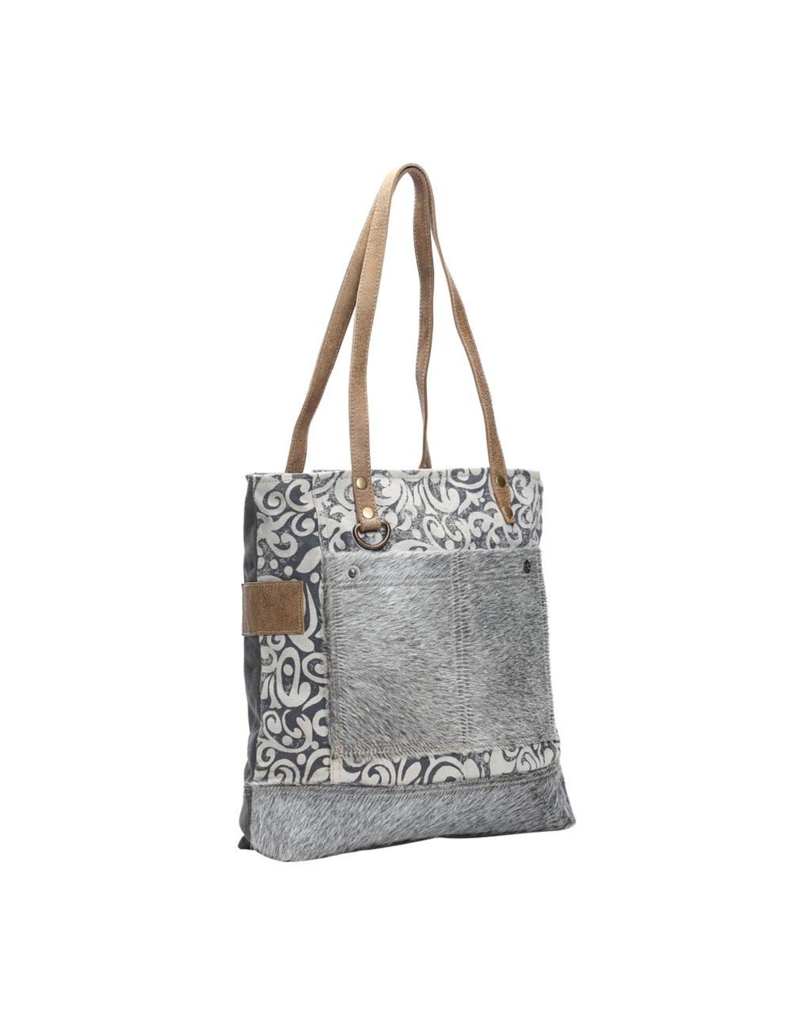 Myra Bags S-1139 Hairon Pockets Tote