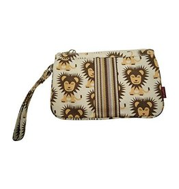 Bungalow 360 Canvas Striped Wristlet Lion