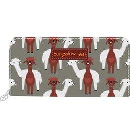 Bungalow 360 Zip Around Wallet Alpaca