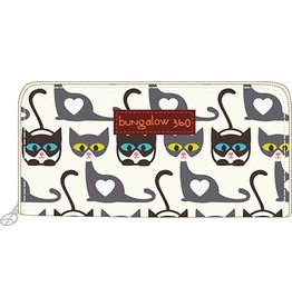 Bungalow 360 Zip Around Wallet Cat