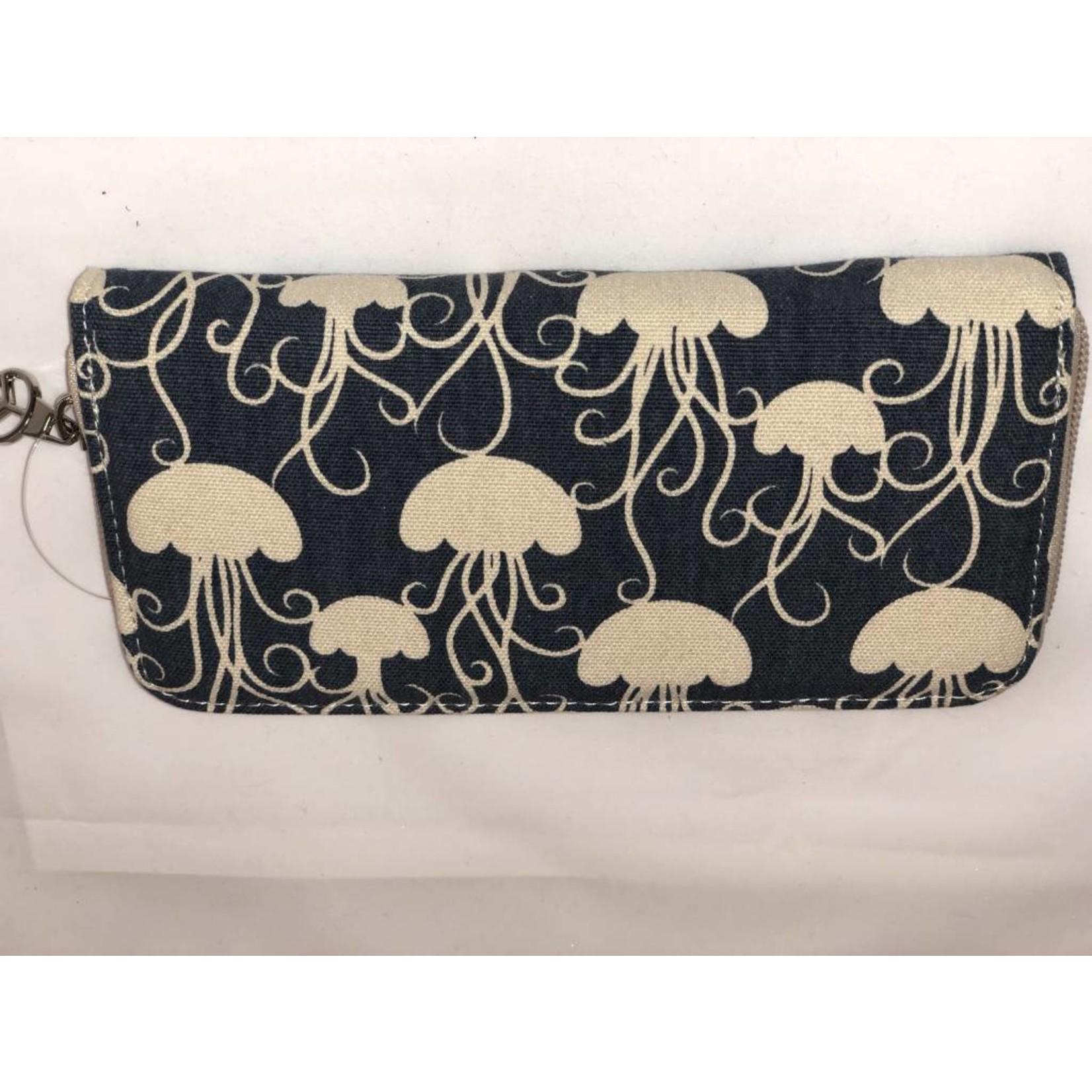 Bungalow 360 Zip Around Wallet - Jellyfish