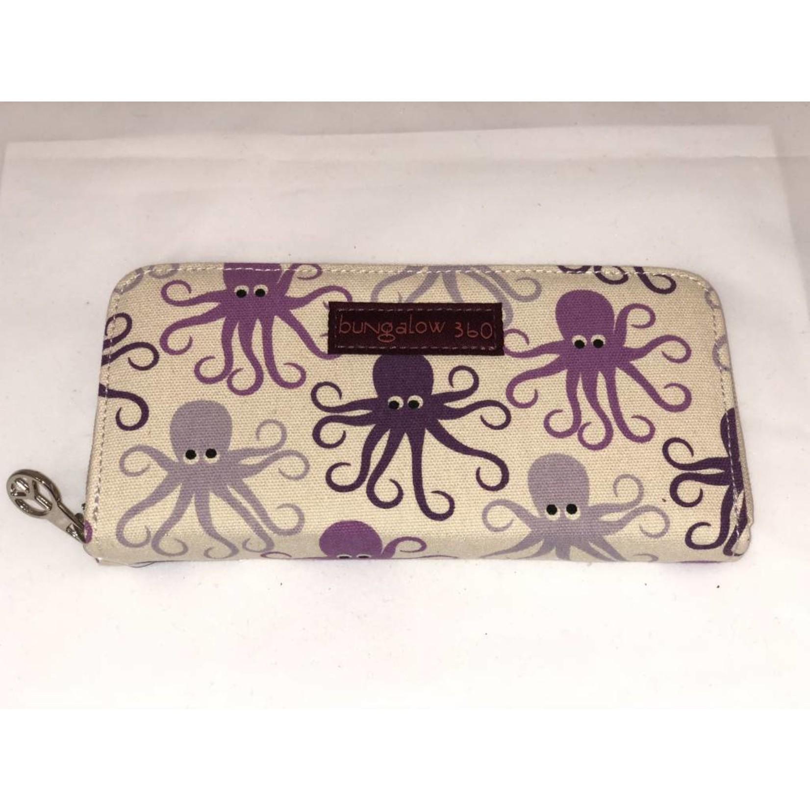 Bungalow 360 Zip Around Wallet - Octopus