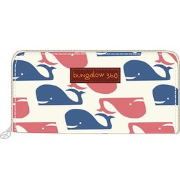 Bungalow 360 Zip Around Wallet Whale