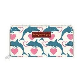 Bungalow 360 Zip Around Wallet Dolphin