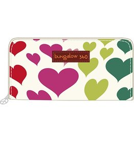 Bungalow 360 Zip Around Wallet Heart