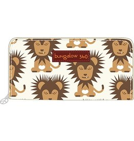 Bungalow 360 Zip Around Wallet Lion