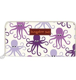 Bungalow 360 Zip Around Wallet Octopus