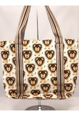 Bungalow 360 Canvas Striped Tote Lion
