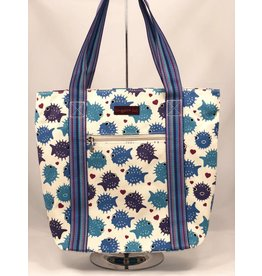Bungalow 360 Canvas Striped Tote Puffer Fish