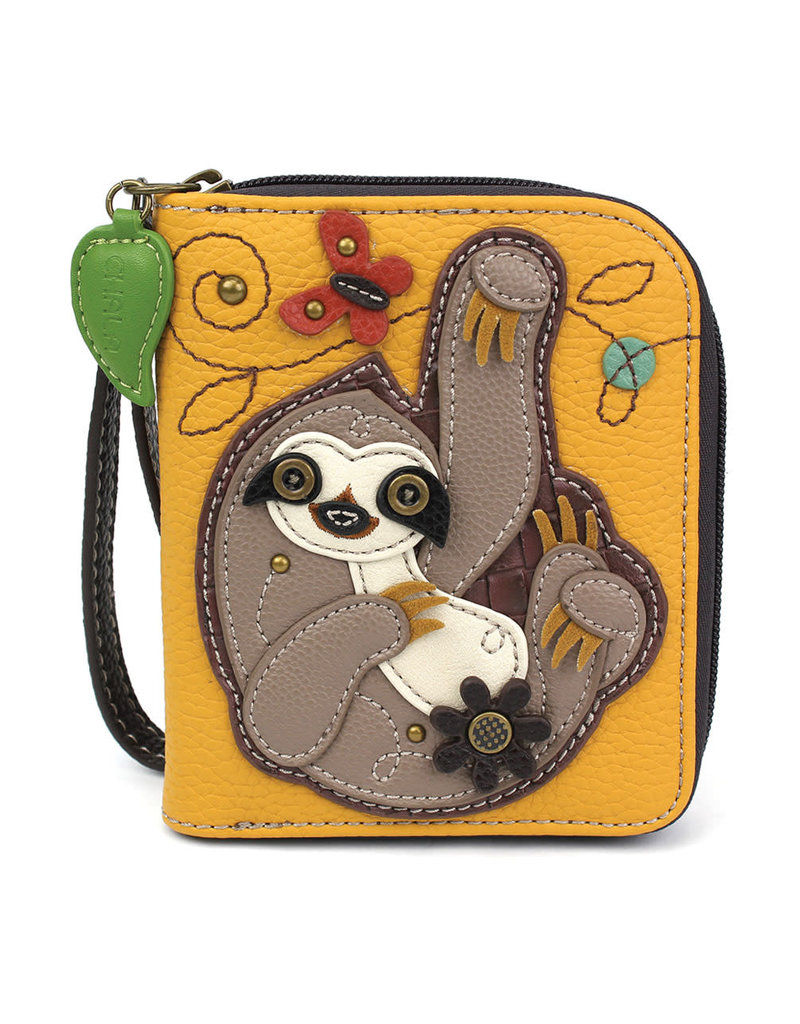 Chala Zip Around Wallet Sloth
