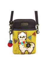Chala Cell Phone Crossbody Llama Mustard
