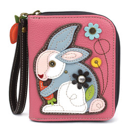 Chala Zip Around Wallet Rabbit