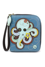 Chala Zip Around Wallet Octopus