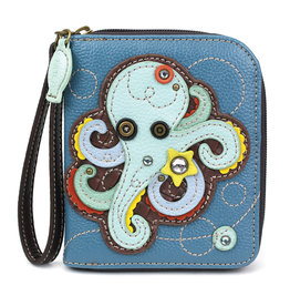 Chala Zip Around Wallet Octopus