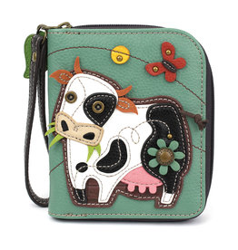 Chala Zip Around Wallet Cow