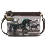 Chala Safari Horse Canvas Mini Crossbody (Gray)