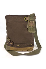 Chala Patch Crossbody Dark Brown