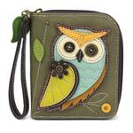 Chala Zip Around Wallet Owl A