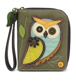 Chala Zip Around Wallet Owl A
