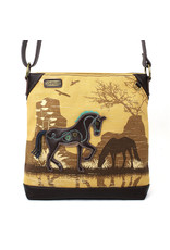 Chala Safari Horse Canvas Crossbody (Brown)