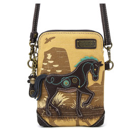 Chala Safari Cell Phone Crossbody Horse Brown
