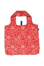 Rock Flower Paper Fruit Red Blu Bag